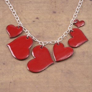 Enameled Heart Collection