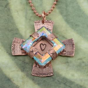 Stamped Maltese Cross