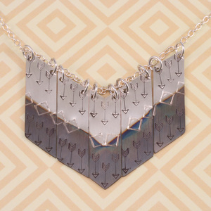 Oxidized Chevron Necklace