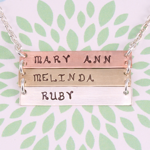Triple Horizontal Necklace