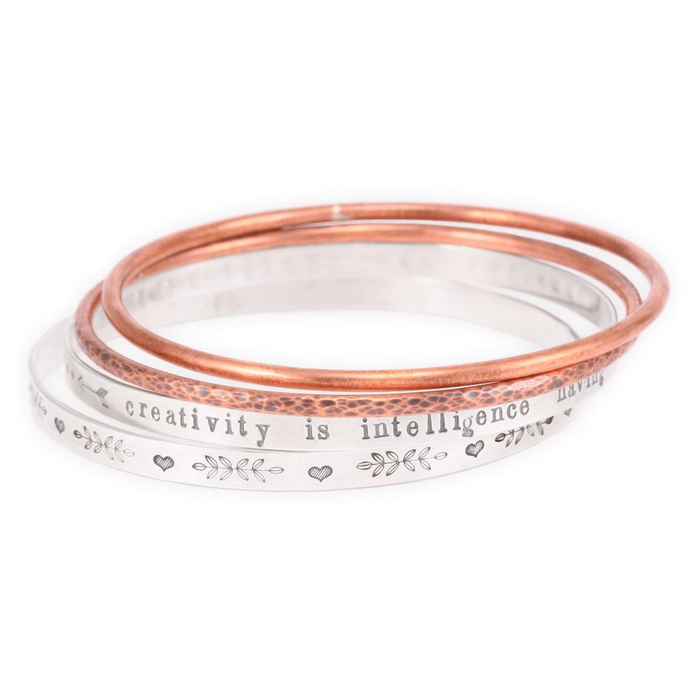 Soldered Bangle Bracelets