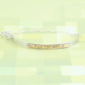 Metal Stamped & Soldered Bracelet DIY with Dainty Chain