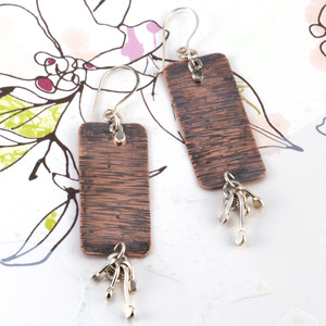 Fancy Hammered Earrings