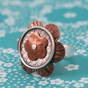 Textured Flower Ring