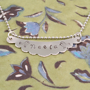 Stamped Bib Necklace