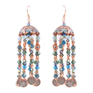 Copper Dome Tassel Earrings