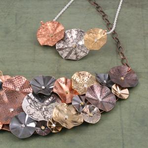 Folded Circle Bib Necklace