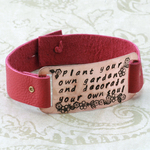 Beaducation_pink_leather_garden_bracelet