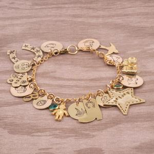 Stamped Charm Bracelet