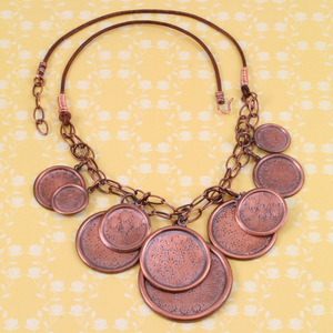 Stamped Gypsy Necklace