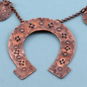 Stamped Copper Squash Blossom Necklace