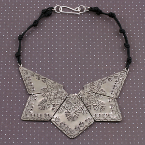 Stamped Star Burst Bib Necklace