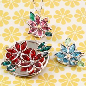 Swarovski Navette Flower Pendants