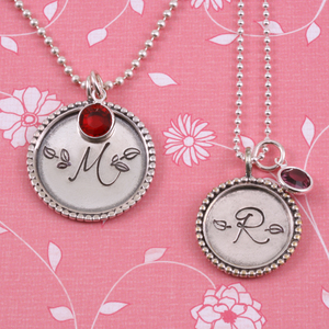 Matching Monogram Necklaces