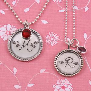Matching Monogram Necklaces