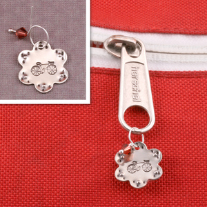 Stamped Zipper Charms