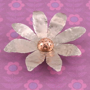 Hammered Metal Flower