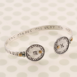 Riveted Monogram  Bracelet
