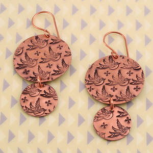 Pattern Stamped Earrings