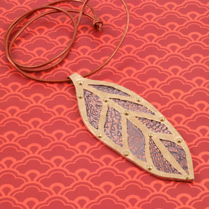 Stamped and Layered Leaf Pendant