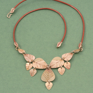 Cascading Leaf Necklace