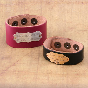 Leather Plaque Bracelets