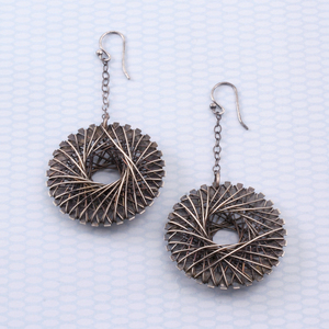 All Wire Spiro  Earrings