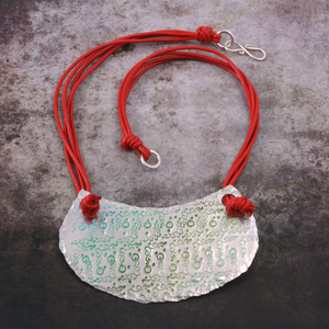 Stamped Ombre Patina Necklace