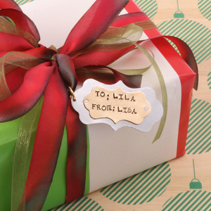 Holiday Gift Tag Pendant