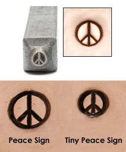 Metal Stamping Tools Tiny Peace Sign Design Stamp