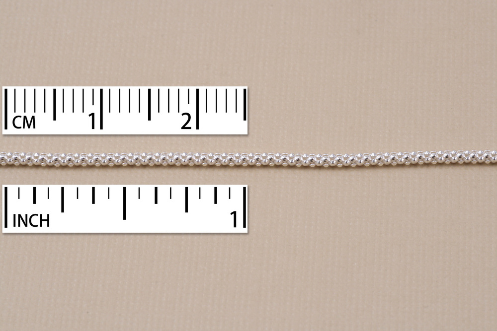 Chain & Clasps Sterling Silver Popcorn Chain, 16""