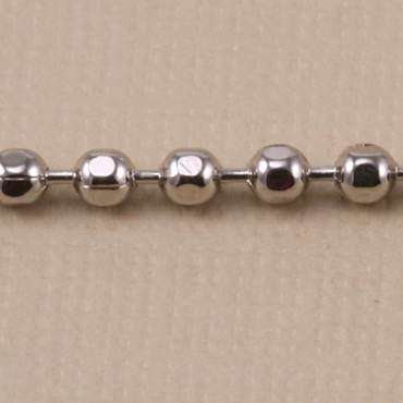 Chain & Clasps Nickel Faceted Ball Chain, by the Inch