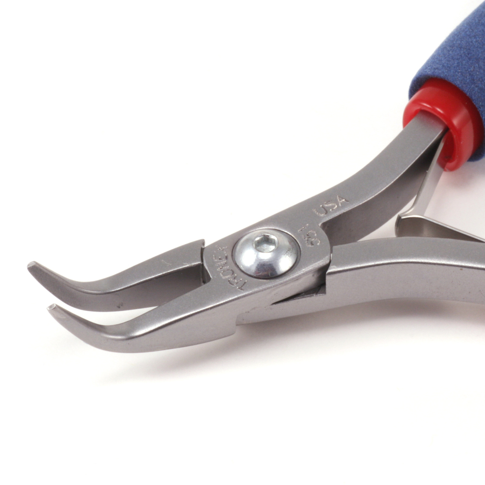 Jewelry Making Tools Tronex Bent Nose Pliers, Short Handle #551