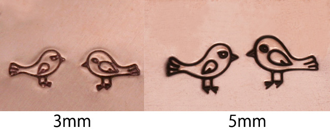 Metal Stamping Tools Love Birds 3mm Metal Design Stamp- Beaducation Original
