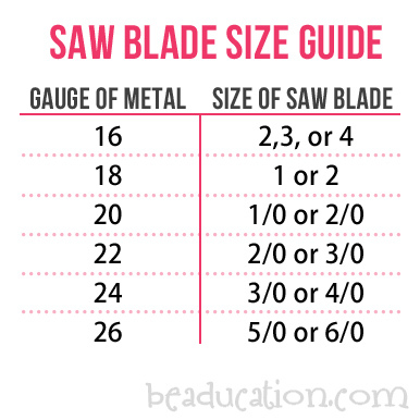 "Jewelry Making Tools Saw Blades - ""2/0"" cut"