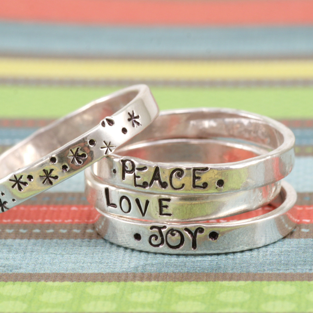 Metal Stamping Blanks Thin Sterling Silver Ring, SIZE 5