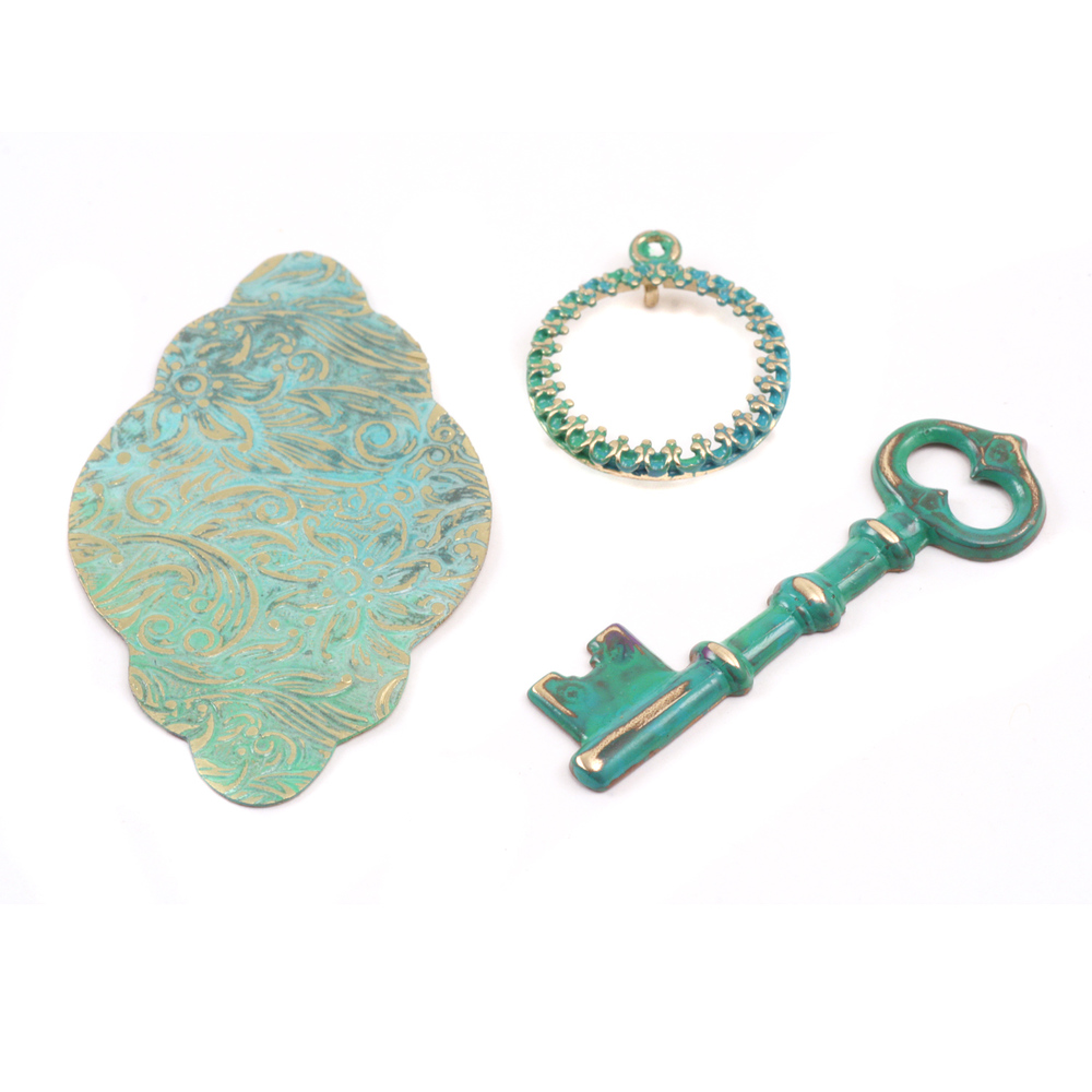 Enamel & Mixed Media Weathered Copper- Metal Patina Kit