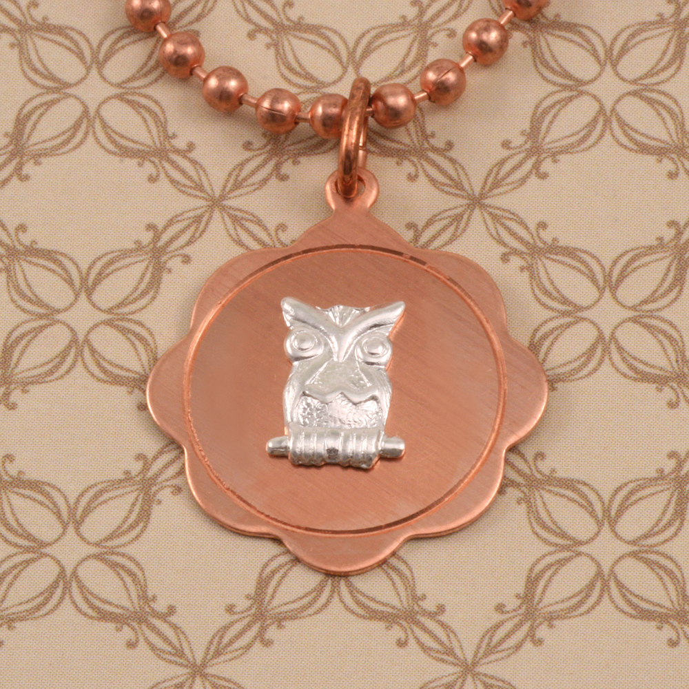 Charms & Solderable Accents Sterling Silver Owl Solderable Accent, 24g