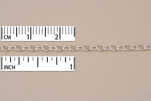 Chain & Clasps Silver Filled Finished Cable Chain, 16""