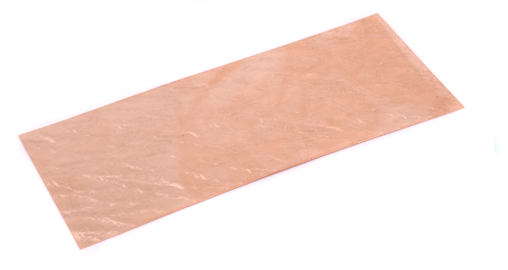 "Wire & Sheet Metal Patterned Copper 24g Sheet Metal, Water, 2.5"" x 6"""
