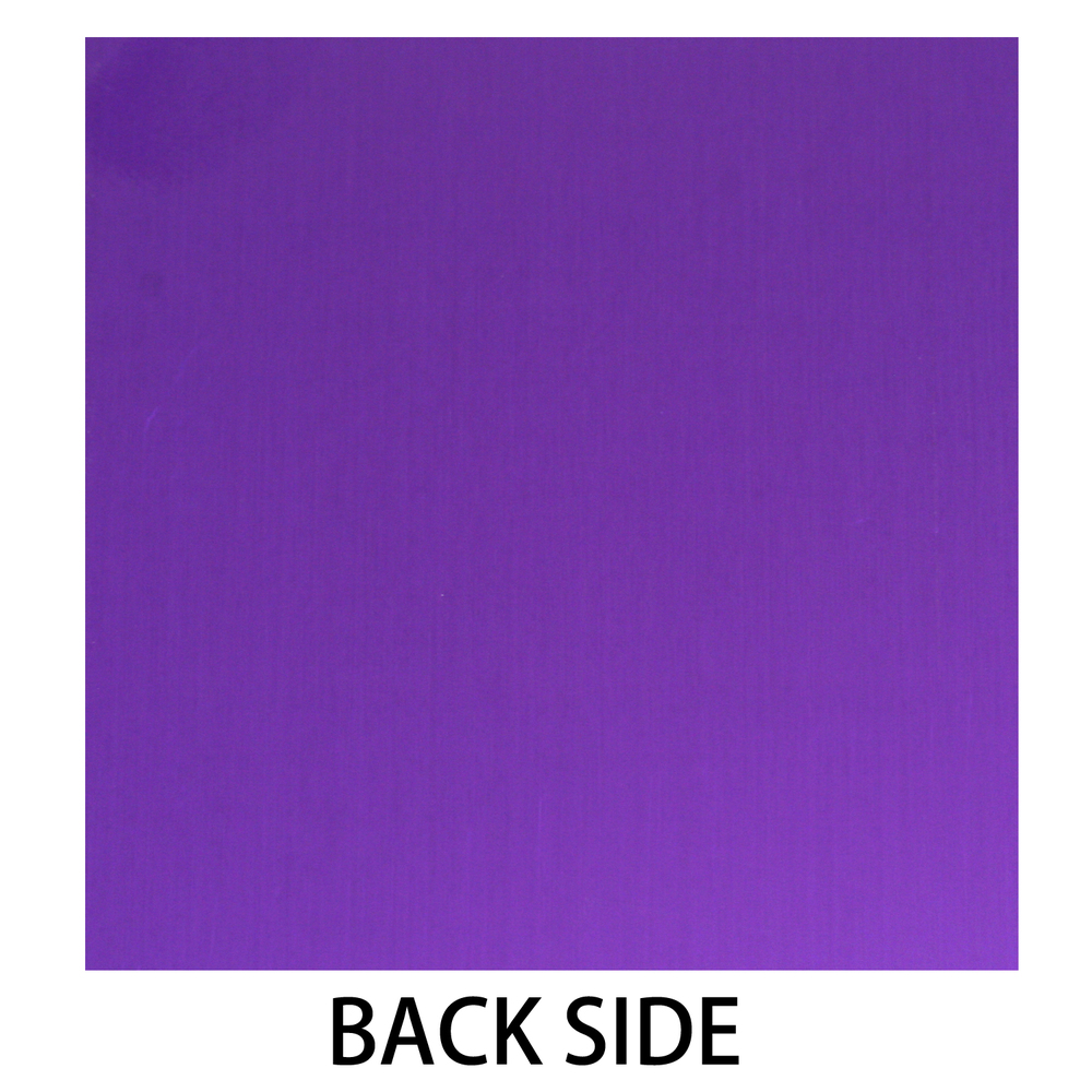 Anodized Aluminum 24g 3x3 Sheet, Design X, Purple