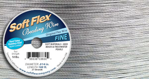 Rivets and Findings  .014 Clear Soft Flex Beading Wire