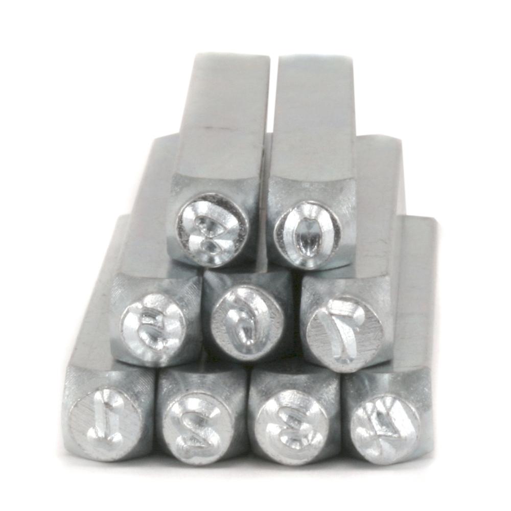 """Metal Stamping Tools ImpressArt Bridgette Number Set 1/8"""" (3mm)"""
