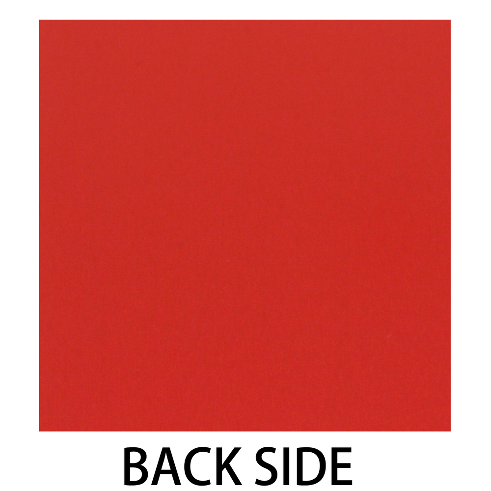 "Anodized Aluminum Sheet, 3"" X 3"", 22g, Design W - Red"