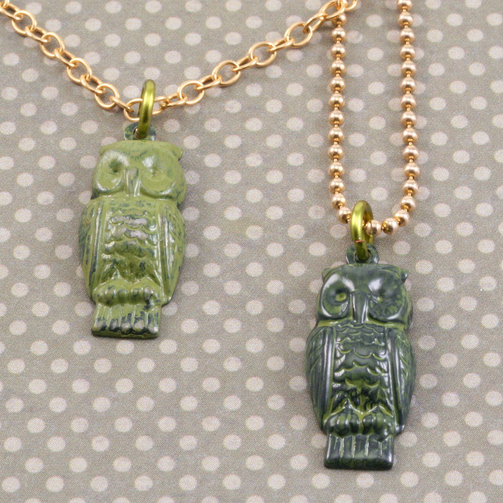 Charms & Solderable Accents Arte Metal Perching Owl Pendant