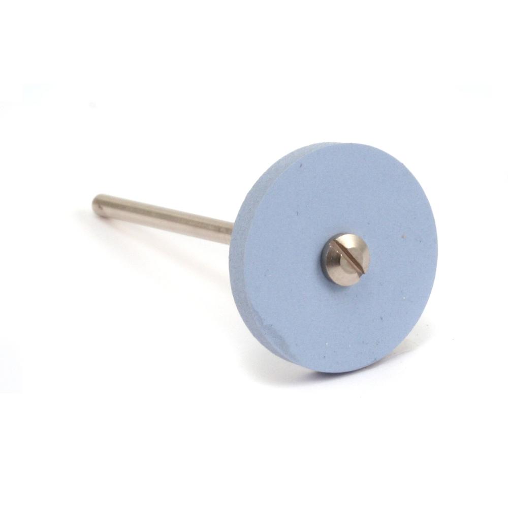 "Jewelry Making Tools Silicone Polishing Wheel, Square Edge - Blue 7/8"" Fine, 2pk"