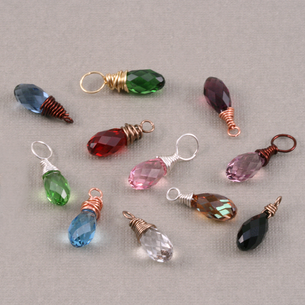 Charms & Solderable Accents Swarovski Crystal Briolette - Pink Tourmaline (OCTOBER)