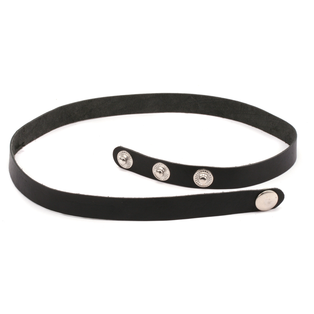 "Leather & Faux Leather Stampable Leather Wraparound Bracelet 1/2"" Adjustable, Black"