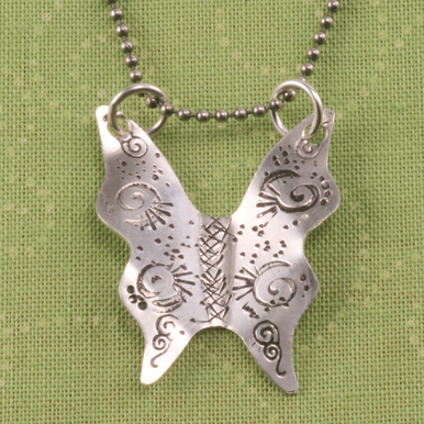 Metal Stamping Blanks Sterling Silver Large Butterfly, 24g