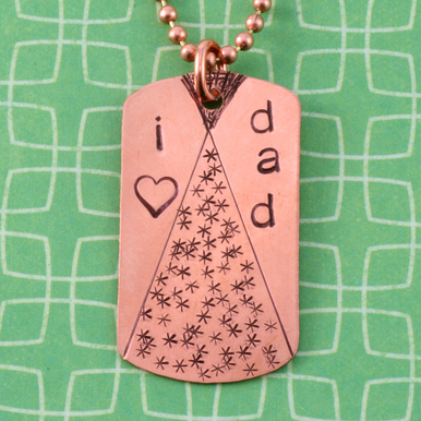 Metal Stamping Blanks Copper Large Dog Tag, 24g